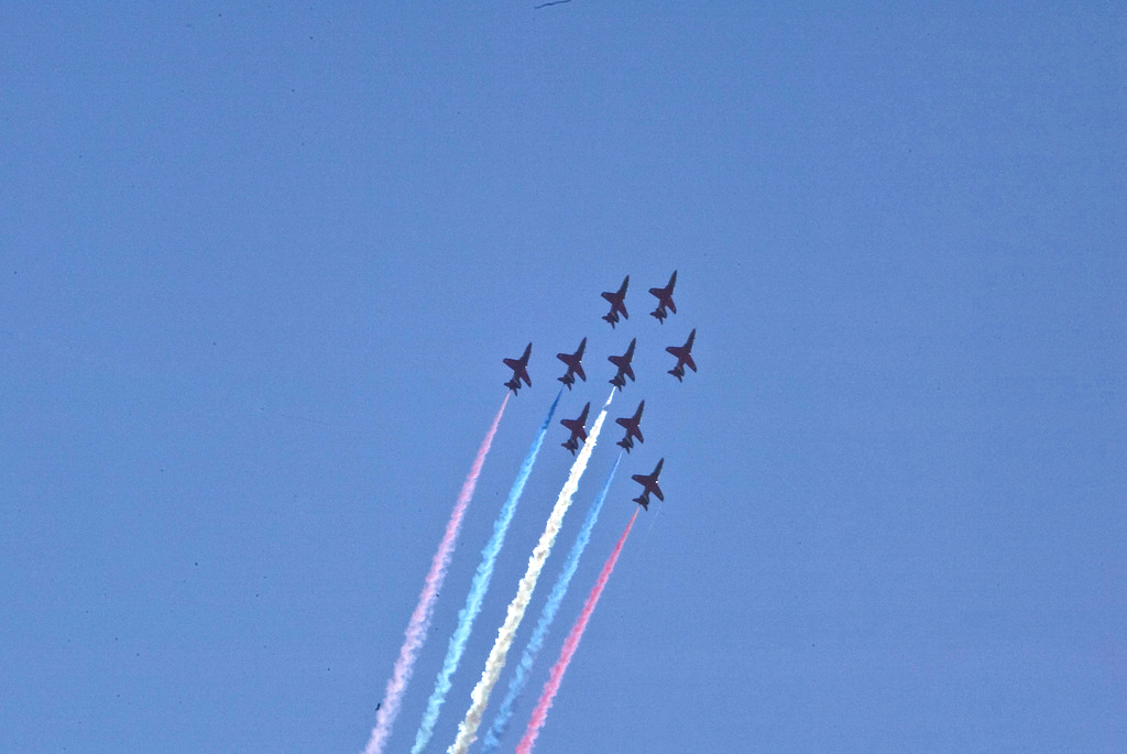 The Red Arrows on Dawlish Air Day