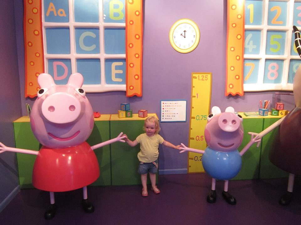 Emily with peppa and george