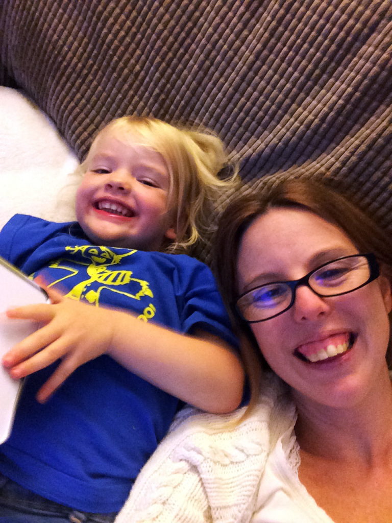 Being silly with mummy
