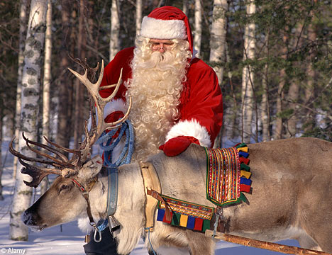 Image result for santa and his reindeers