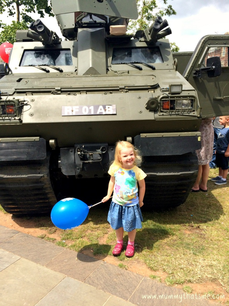 Emily at Armed Forces Day