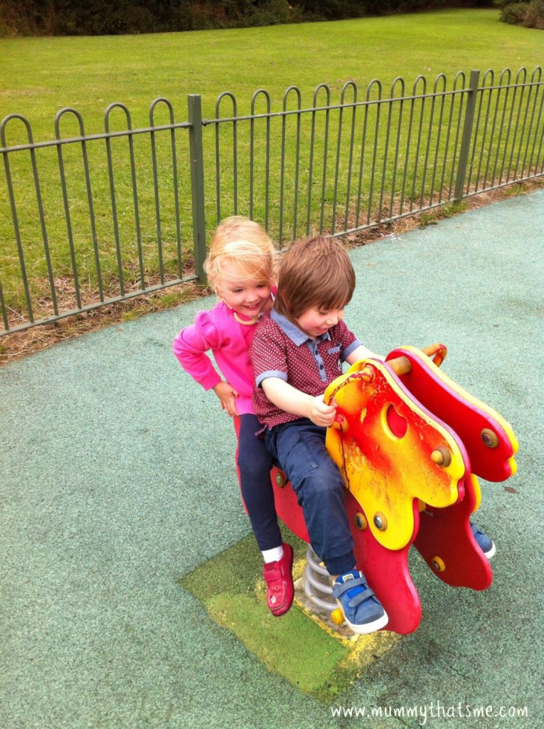 Emily and charlie at the park