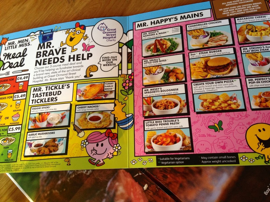 Beefeater kids menu