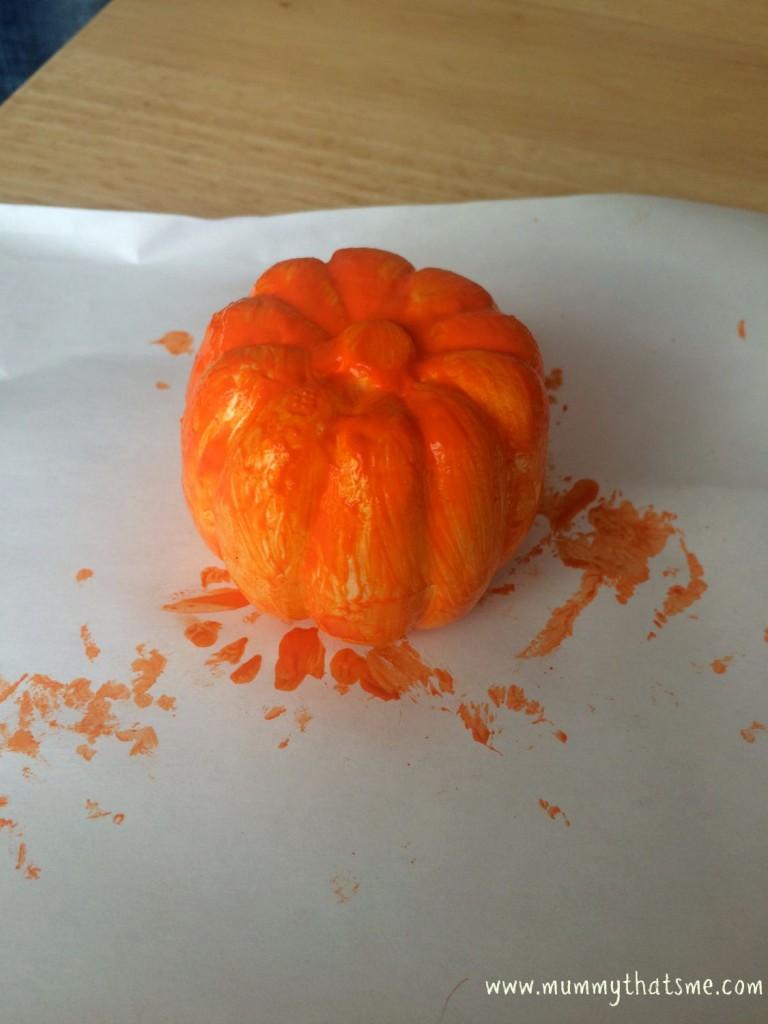 Polystyrene pumpkin