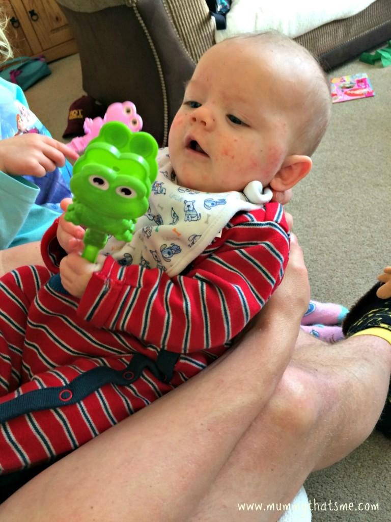 Joshua with frog