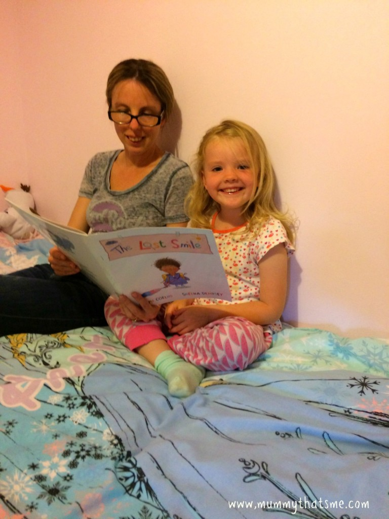A Bedtime story makes children smile
