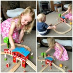 Playing with the BigJigs fire & Rescue train set