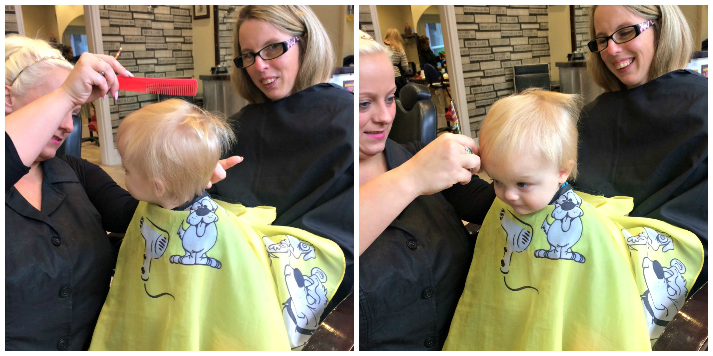 Joshuas First Haircut Mum Thats Me