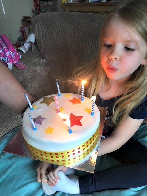 Emilys 7th birthday cake