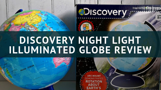 Discovry Night Light illuminated Globe Review