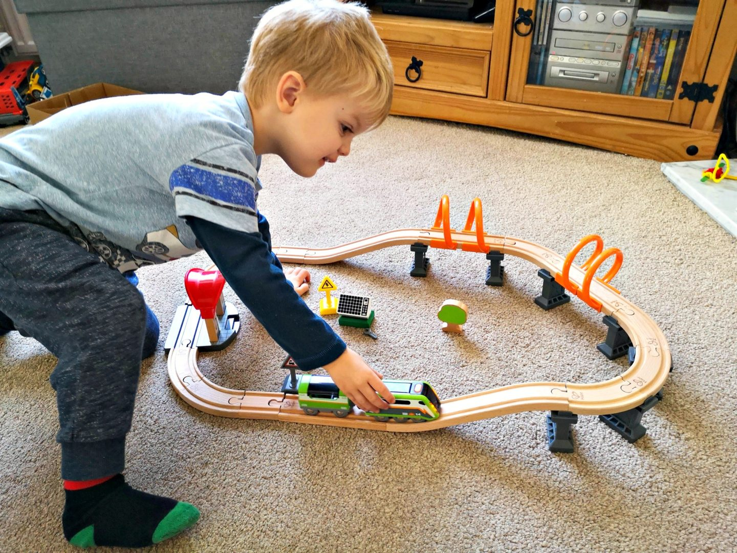 Playing with a train set